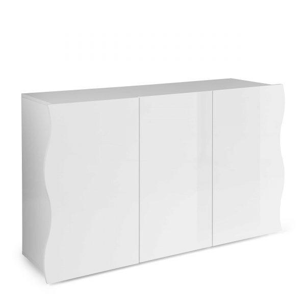 tecnos sideboard leni wei lack hochglanz online kaufen bei woonio. Black Bedroom Furniture Sets. Home Design Ideas