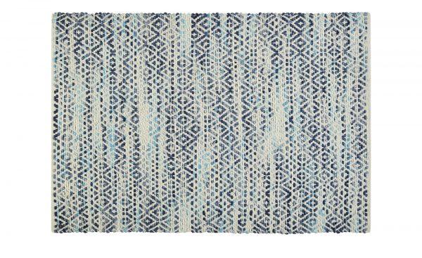 Tom Tailor Handwebteppich  Diamond Tom Tailor Handwebteppich  Diamond-Handwebteppich-Tom Tailor-blau-80 % Wolle und 20 % Baumwolle Breite: 160 cm Höhe: blau