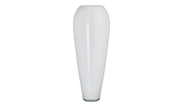Vase Vase-Vase-weiß-Glas Breite: Höhe: 75 cm weiß