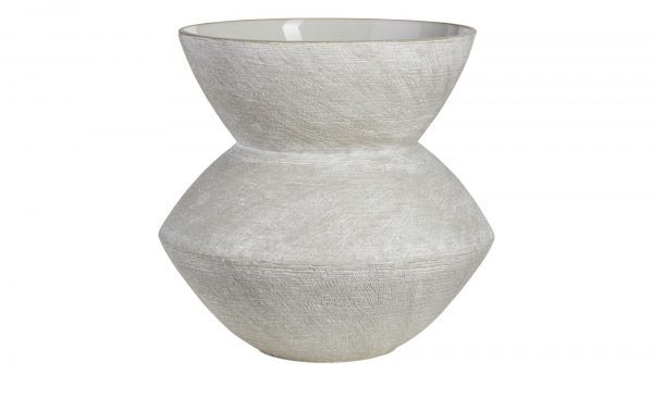 Vase Vase-Vase-grau-Steinzeug Breite: Höhe: 25 cm grau
