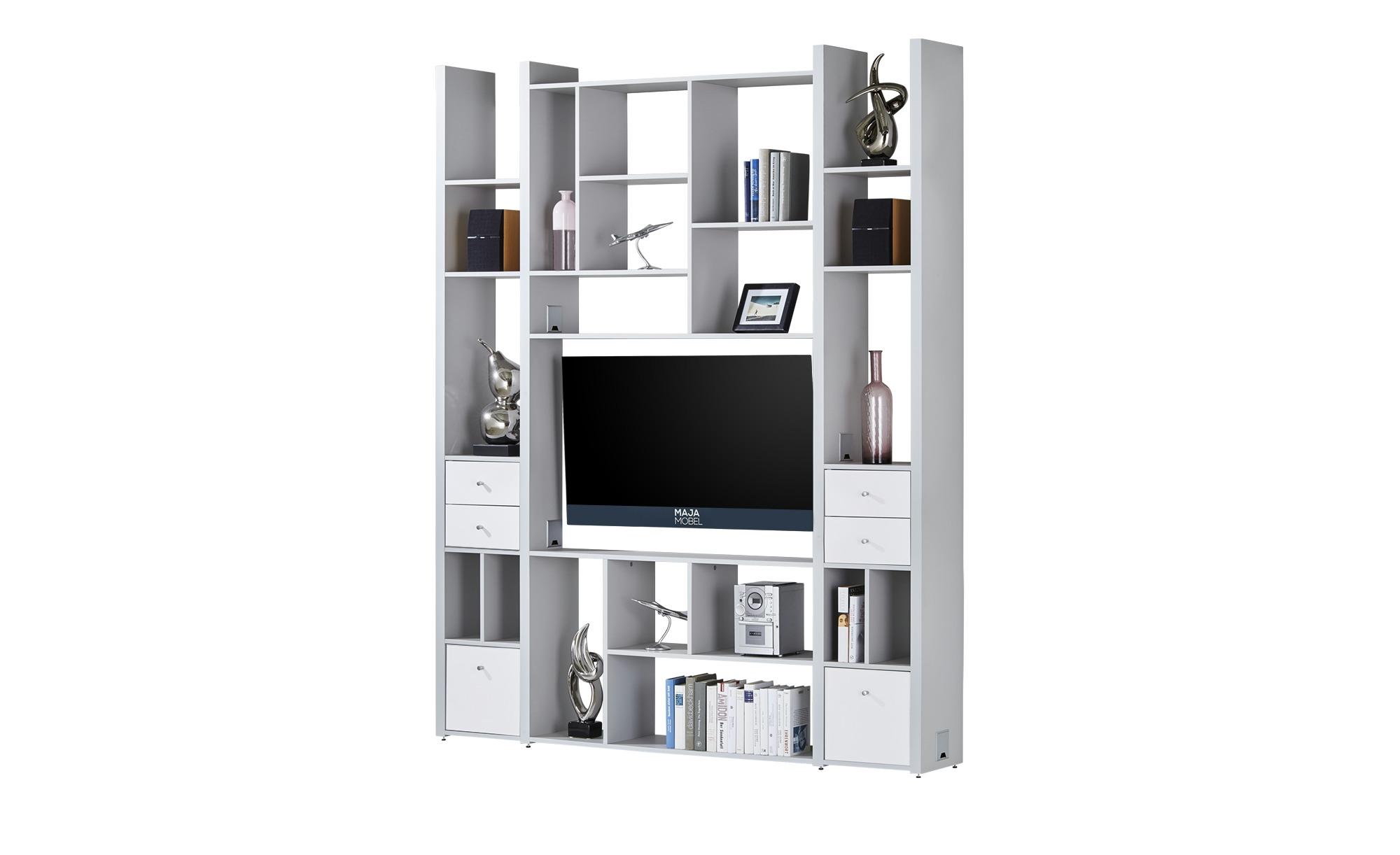 wandregal f hr breite 180 cm h he 225 cm grau online. Black Bedroom Furniture Sets. Home Design Ideas