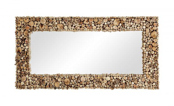 Wandspiegel  Marone Wandspiegel  Marone-Wandspiegel-holzfarben Breite: 60 cm Höhe: 120 cm holzfarben