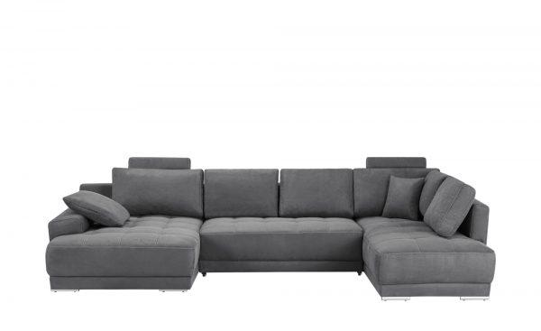wohnlandschaft agenique breite 340 cm h he grau online. Black Bedroom Furniture Sets. Home Design Ideas