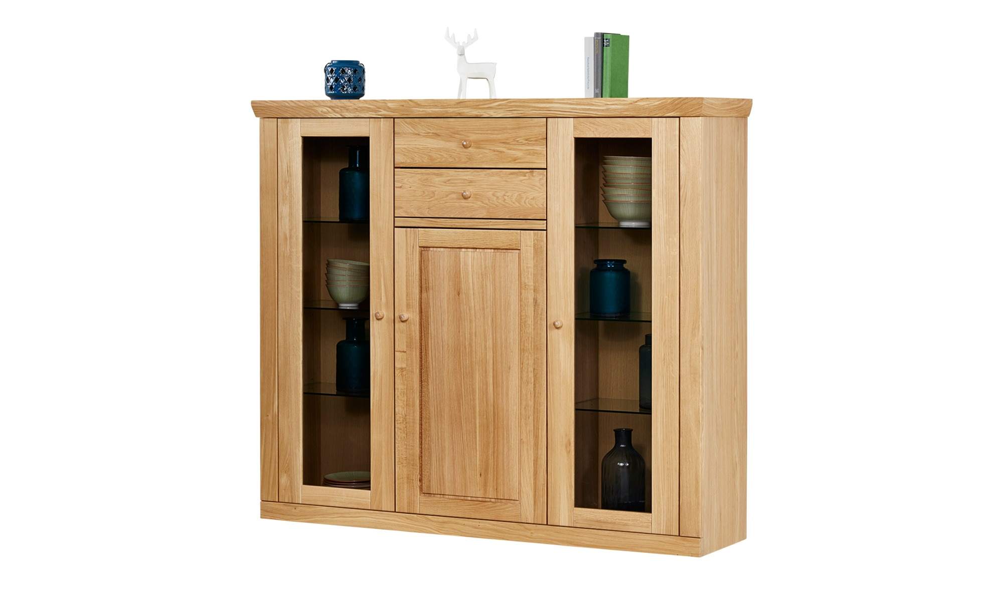 woodford highboard vera breite 163 cm h he 140 cm holzfarben online kaufen bei woonio. Black Bedroom Furniture Sets. Home Design Ideas