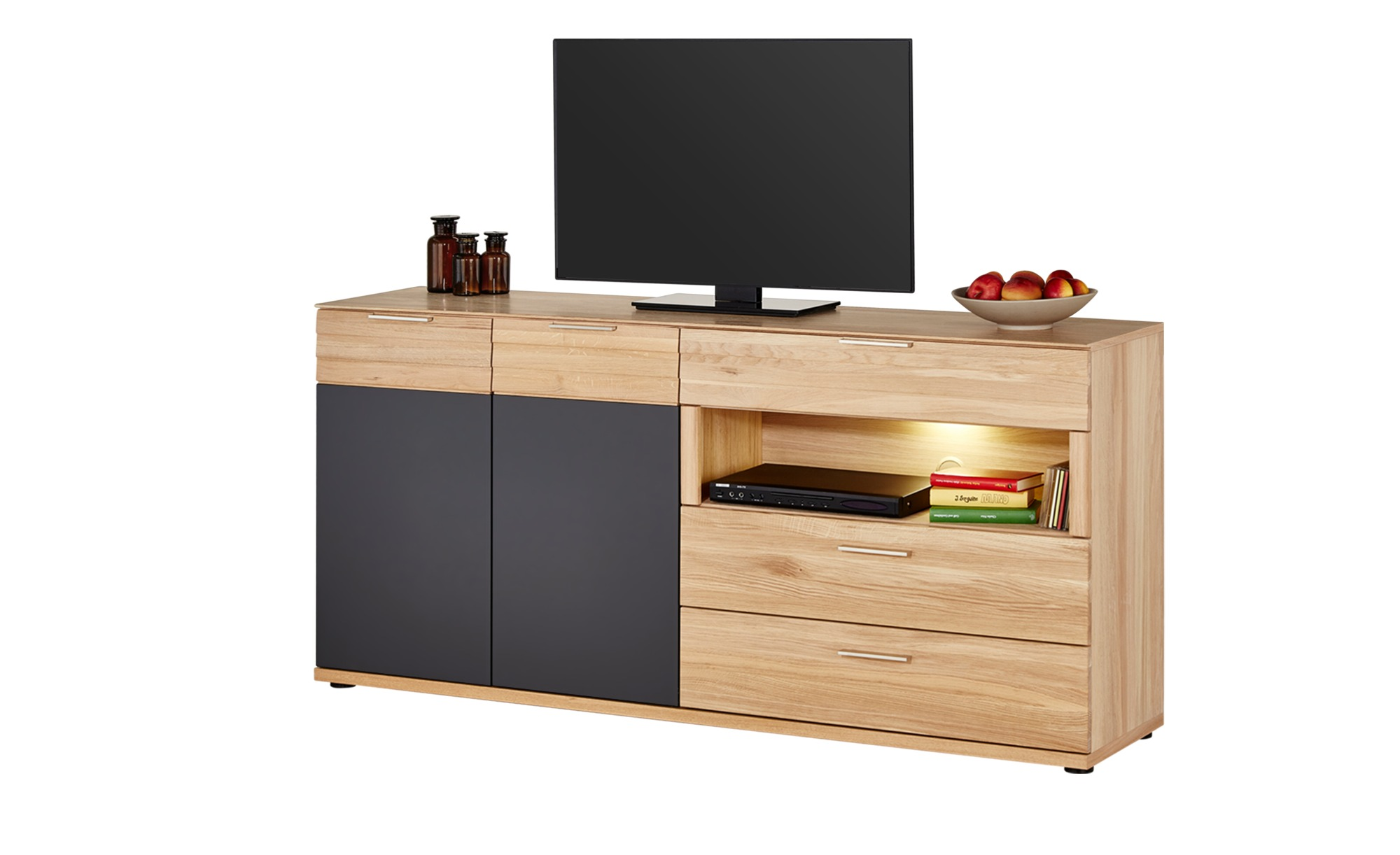 woodford sideboard achat breite 180 cm h he 87 cm holzfarben online kaufen bei woonio. Black Bedroom Furniture Sets. Home Design Ideas
