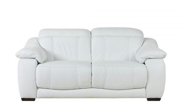 Zweisitzer-Ledersofa  Unika Zweisitzer-Ledersofa  Unika-Zweisitzer-Ledersofa-weiß Breite: 190 cm Höhe: 80 cm weiß