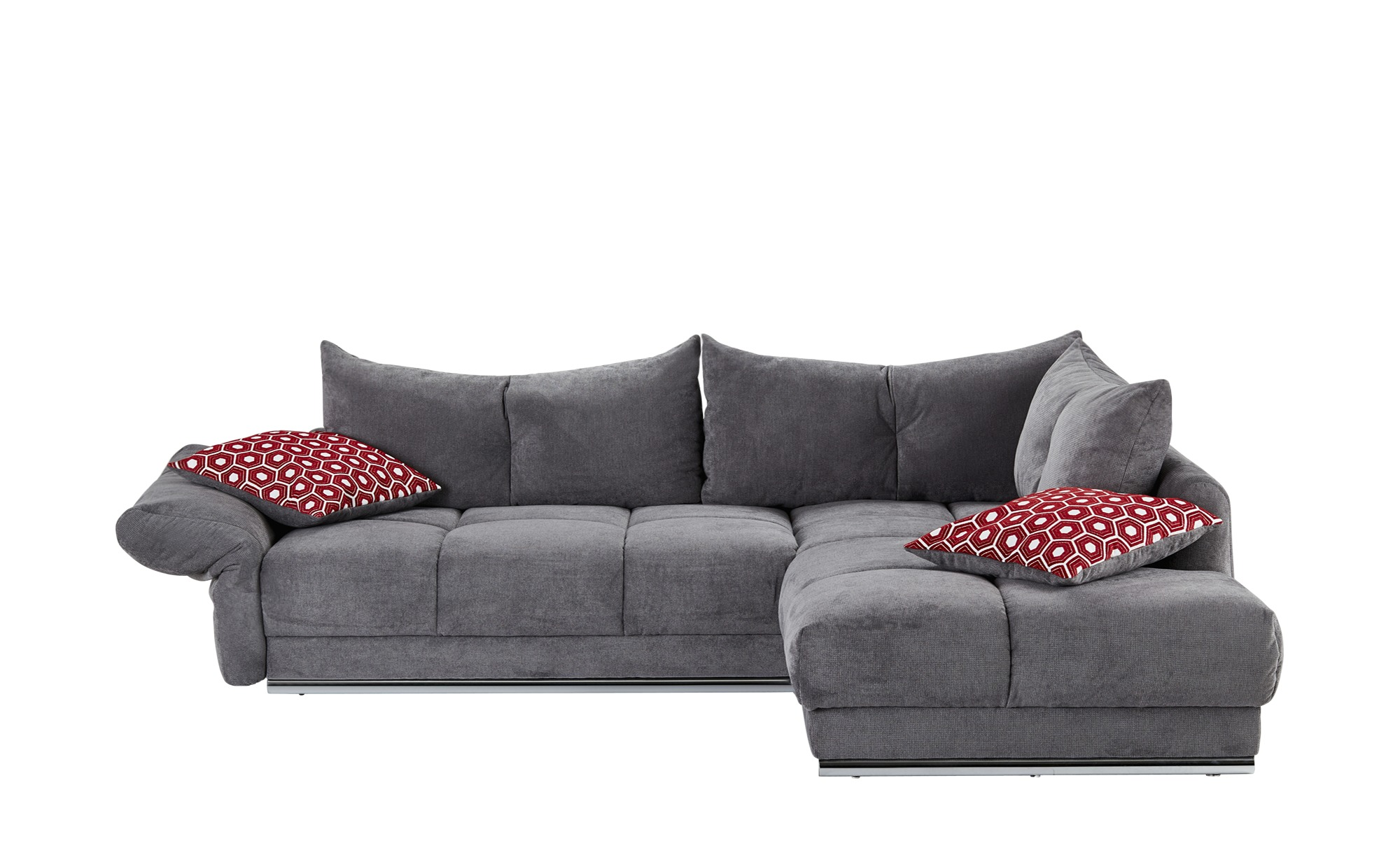 Bobb ecksofa petrissa breite h he grau online kaufen bei for Couch 45 grad
