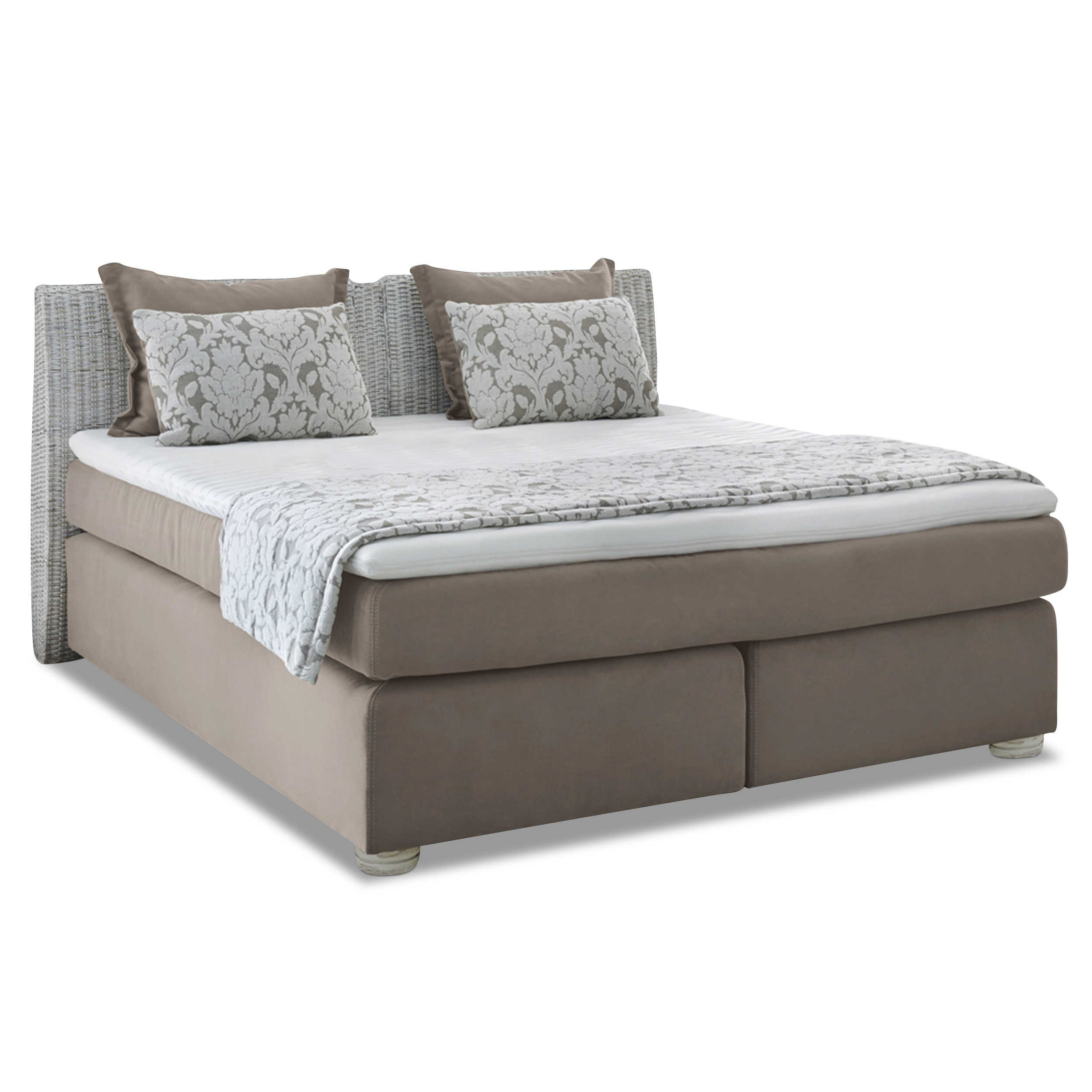 boxspringbett celina 180 x 200 cm beige stoff online kaufen bei woonio. Black Bedroom Furniture Sets. Home Design Ideas