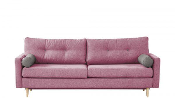 finya Design-Schlafsofa 3-sitzig  Pure finya Design-Schlafsofa 3-sitzig  Pure-Design-Schlafsofa 3-sitzig-finya-rosa/pink Breite: 218 cm Höhe: 85 cm rosa/pink