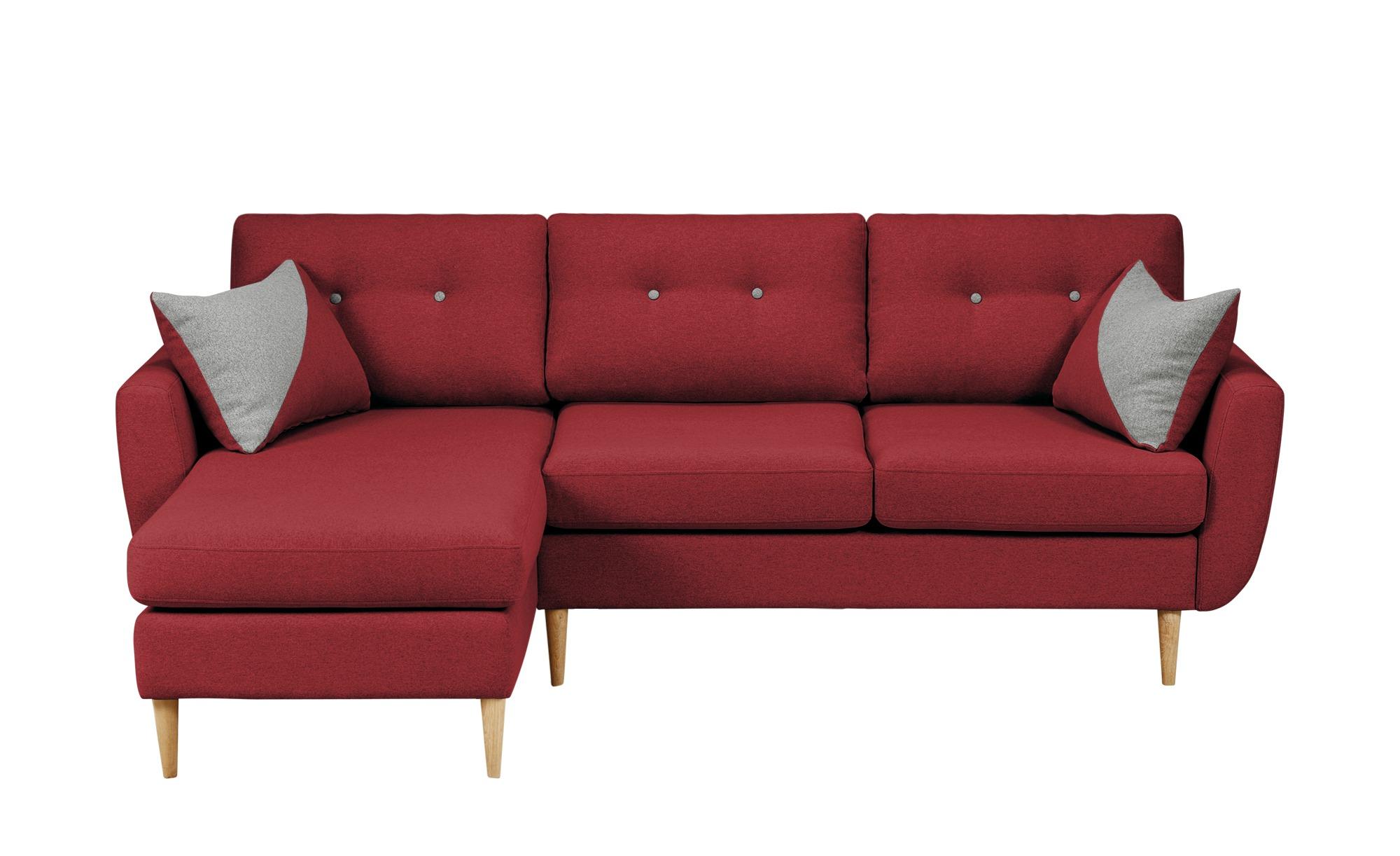 Finya ecksofa harris breite h he 85 cm rot online kaufen for Ecksofa breite 200 cm
