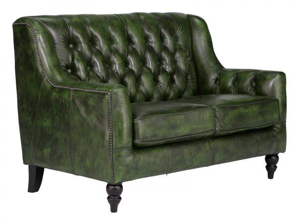 massivum Sofa aus Echtleder »Chesterfield Bozen « grün