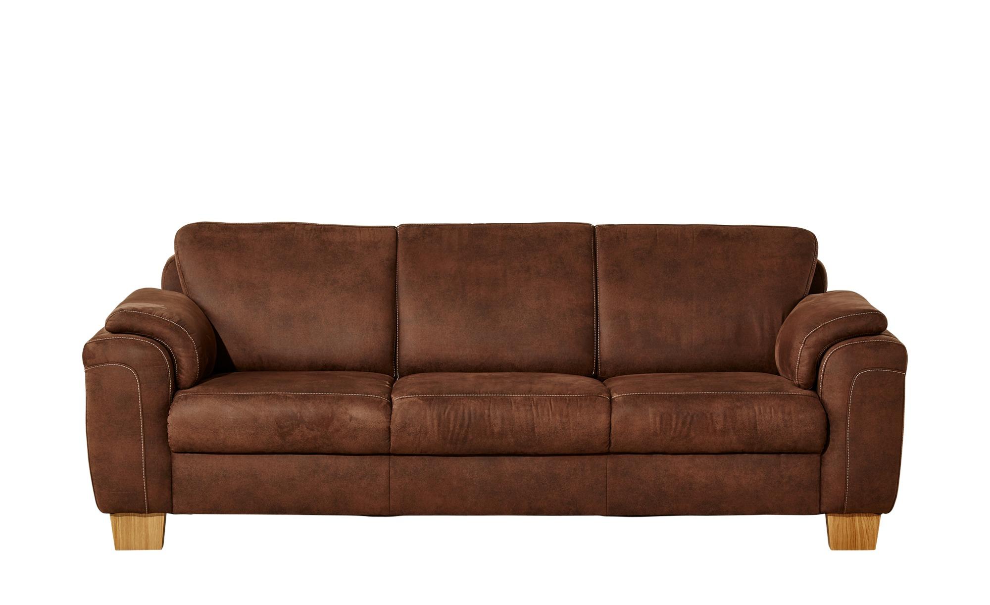 MeinSofa 3 Sitzer Sofa Linus Breite: 226 Cm Höhe: 84 Cm Braun Online Kaufen  Bei WOONIO