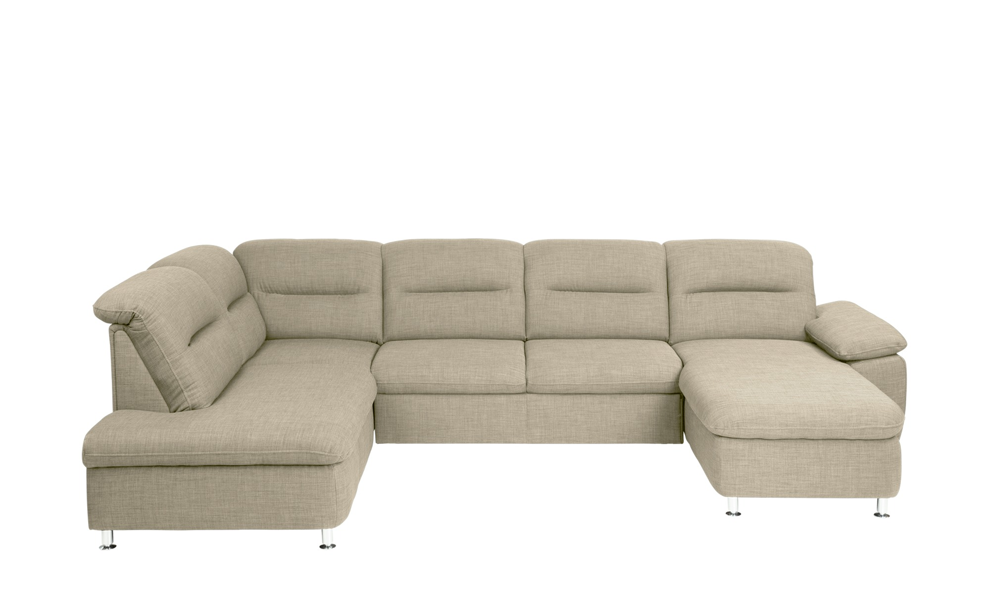 meinsofa beige wohnlandschaft senta breite h he creme. Black Bedroom Furniture Sets. Home Design Ideas