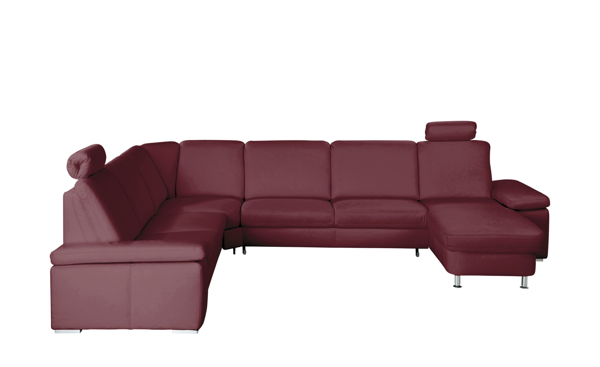 meinsofa elementgruppe leder wine elsa breite h he 91 cm rot online kaufen bei woonio. Black Bedroom Furniture Sets. Home Design Ideas