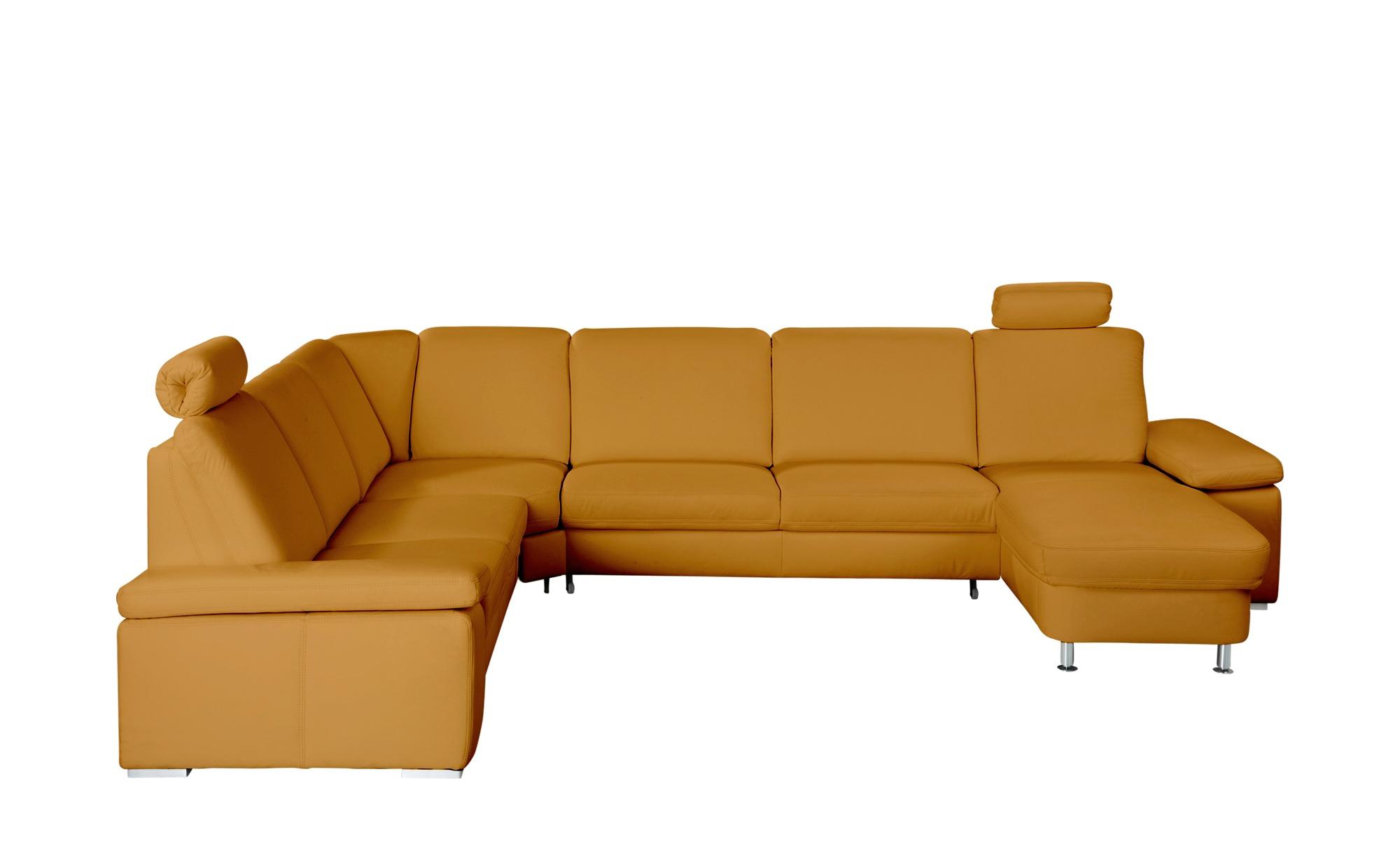 meinsofa leder eckcouch mit funktion elsa breite h he 91 cm gelb online kaufen bei woonio. Black Bedroom Furniture Sets. Home Design Ideas