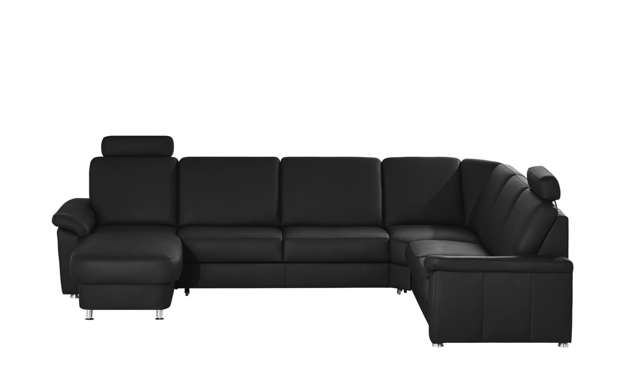 meinsofa leder wohnlandschaft carolin breite h he 91 cm schwarz online kaufen bei woonio. Black Bedroom Furniture Sets. Home Design Ideas