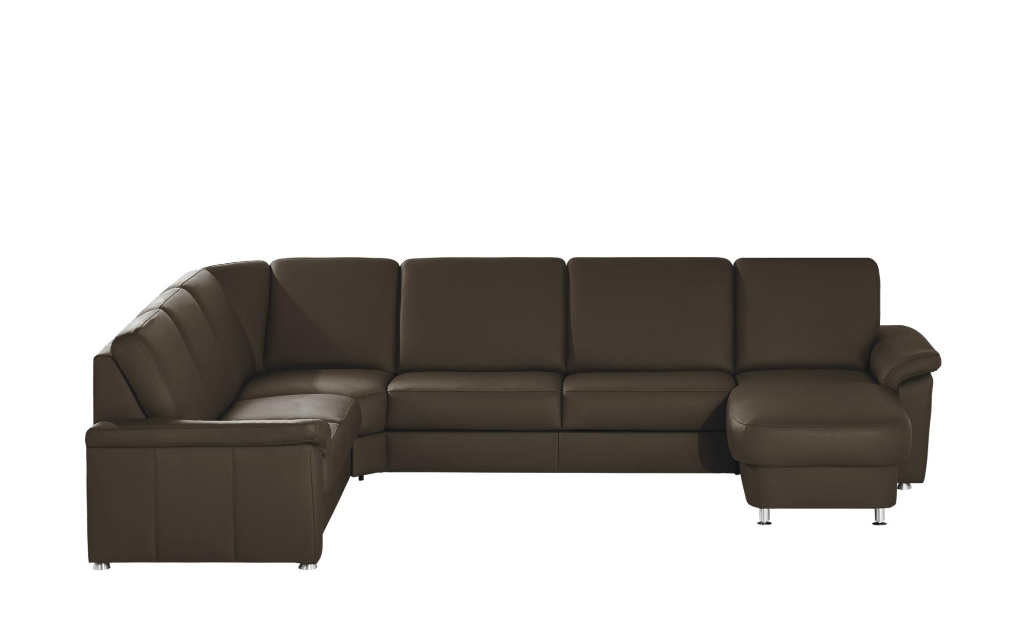 meinsofa leder wohnlandschaft carolin breite h he 91 cm braun online kaufen bei woonio. Black Bedroom Furniture Sets. Home Design Ideas