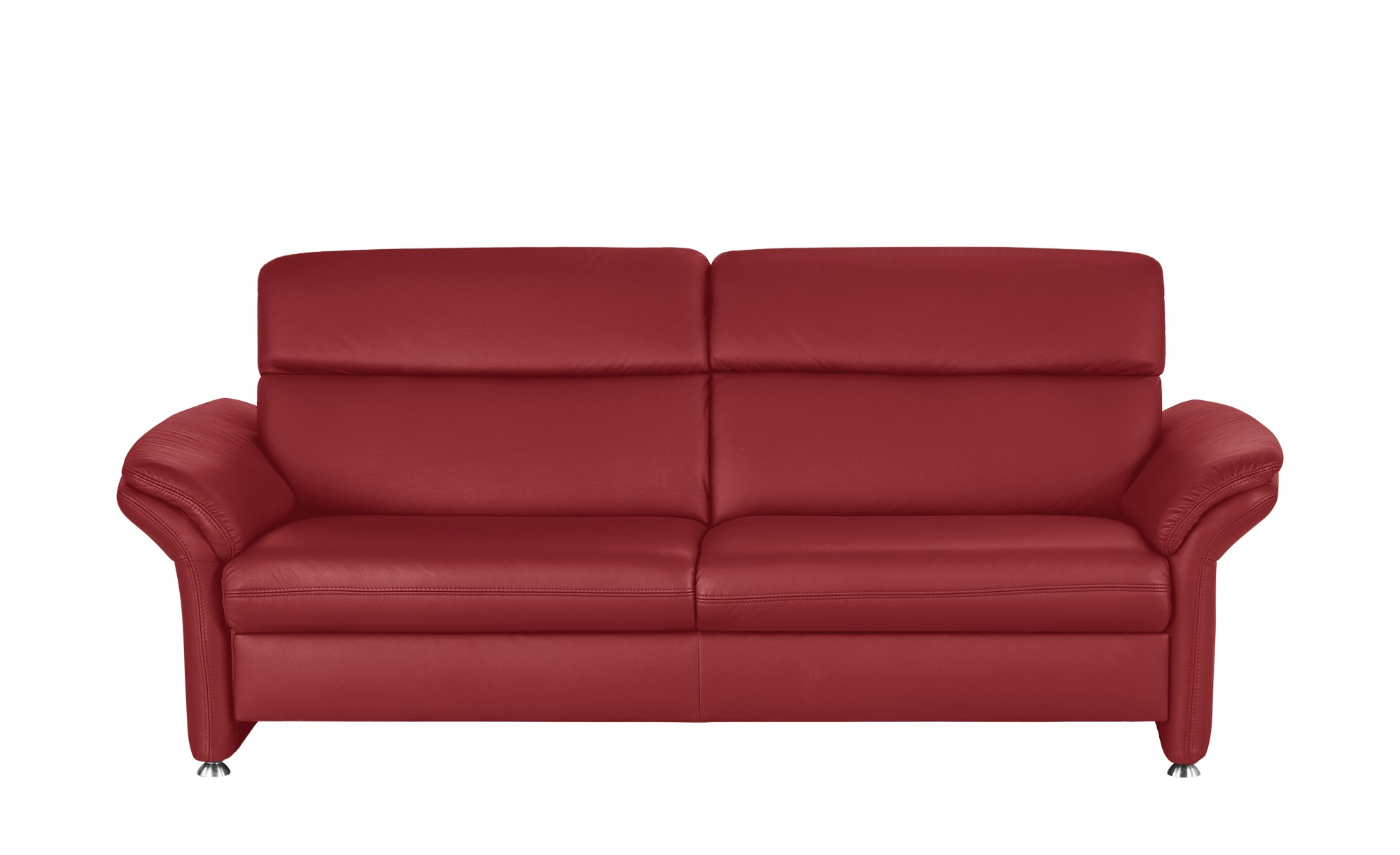 meinsofa ledersofa manon breite 228 cm h he 94 cm rot. Black Bedroom Furniture Sets. Home Design Ideas