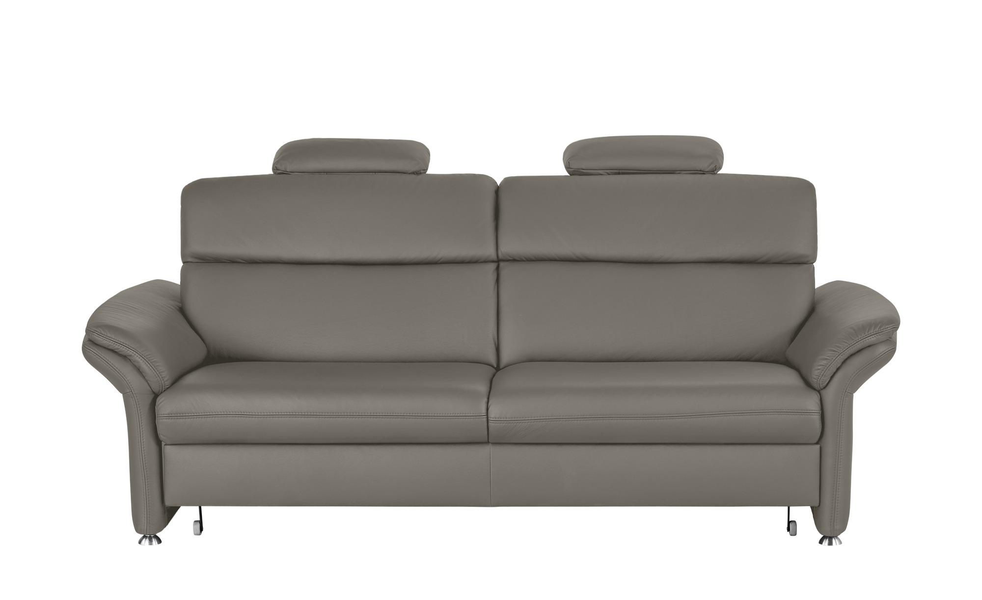 meinsofa ledersofa manon breite 228 cm h he 94 cm grau. Black Bedroom Furniture Sets. Home Design Ideas