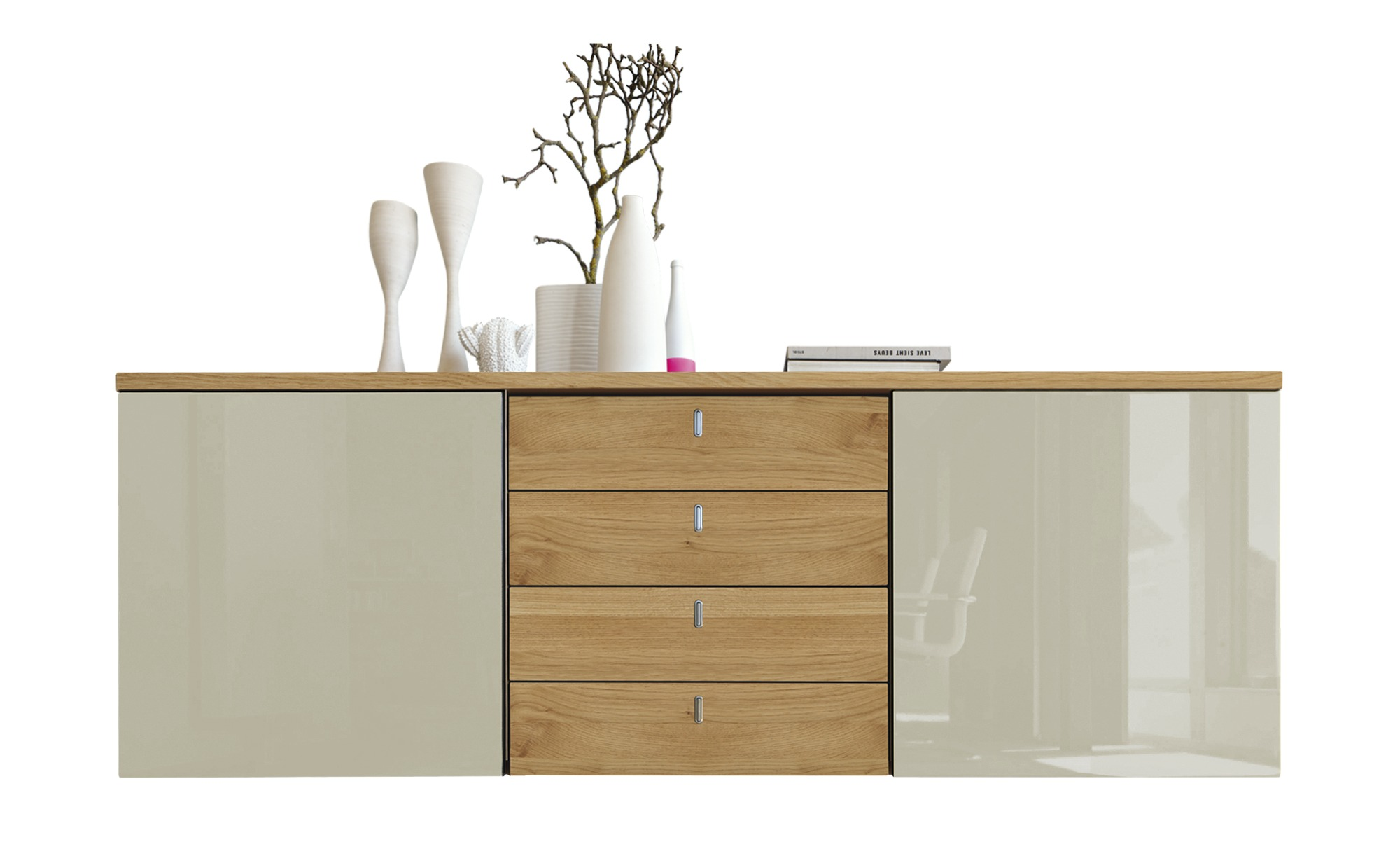 now by h lsta sideboard h lsta now time breite 210 cm h he 74 cm grau online kaufen bei woonio. Black Bedroom Furniture Sets. Home Design Ideas