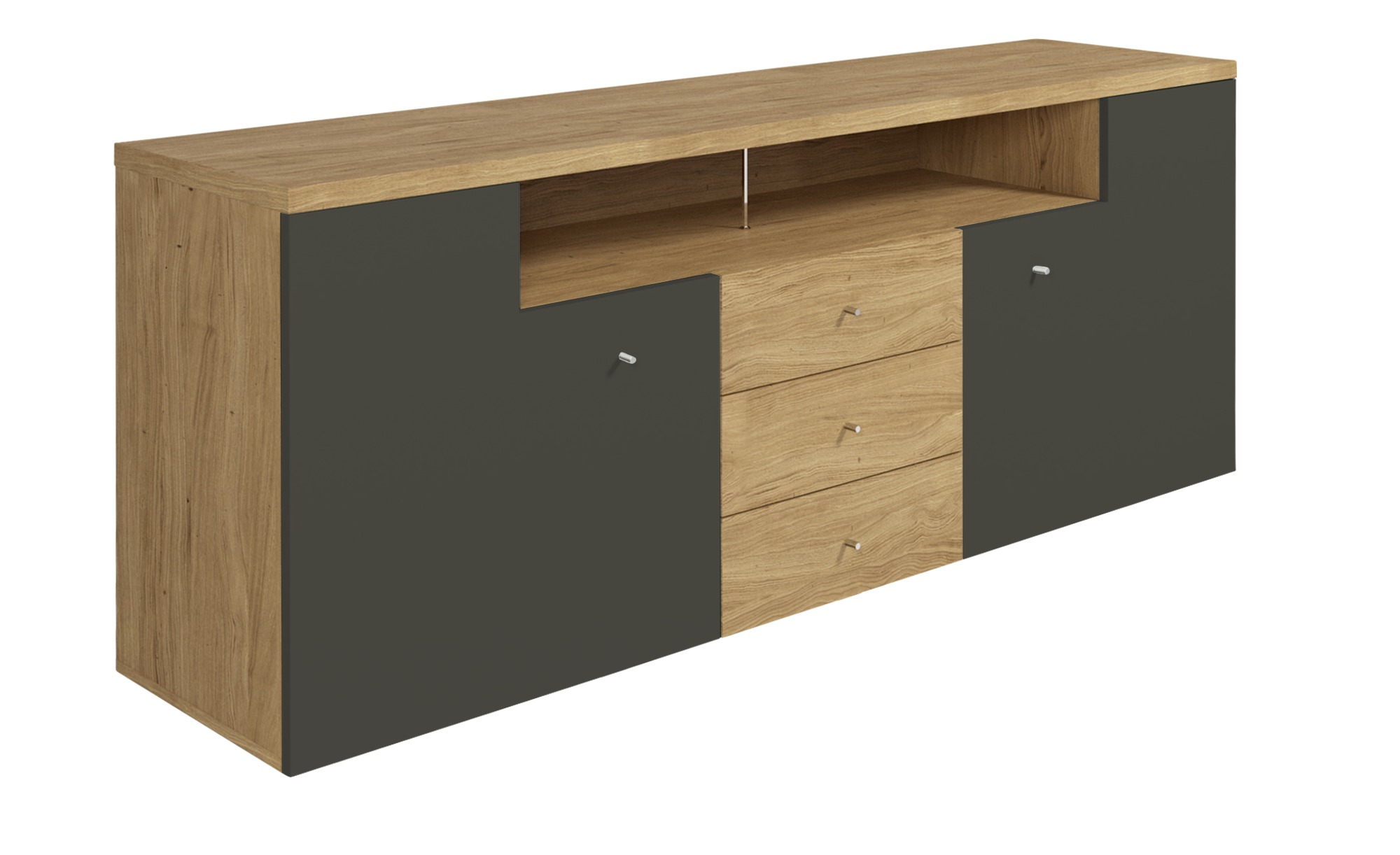 now by h lsta sideboard h lsta now time breite 190 cm h he 74 cm grau online kaufen bei woonio. Black Bedroom Furniture Sets. Home Design Ideas