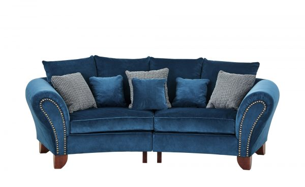 smart Big Sofa  Nadja smart Big Sofa  Nadja-Big Sofa-smart-blau Breite: 277 cm Höhe: 100 cm blau
