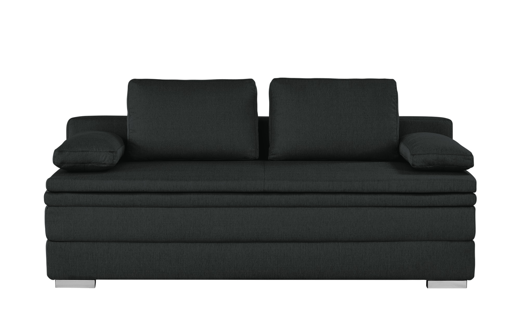 smart boxspring schlafsofa daphne breite 202 cm h he 92 cm schwarz online kaufen bei woonio. Black Bedroom Furniture Sets. Home Design Ideas