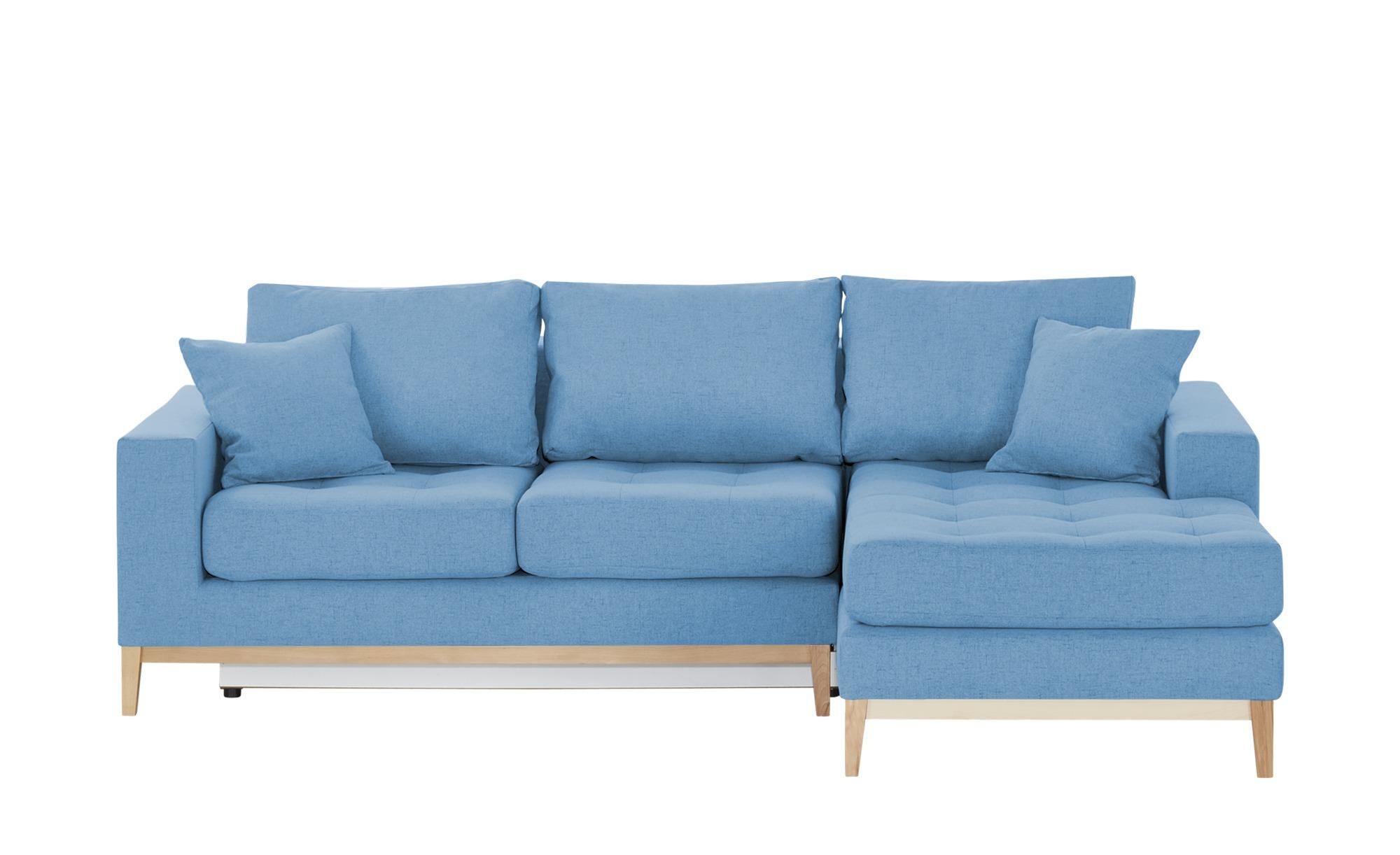 Smart ecksofa vivien breite h he 90 cm blau online for Ecksofa 1 90