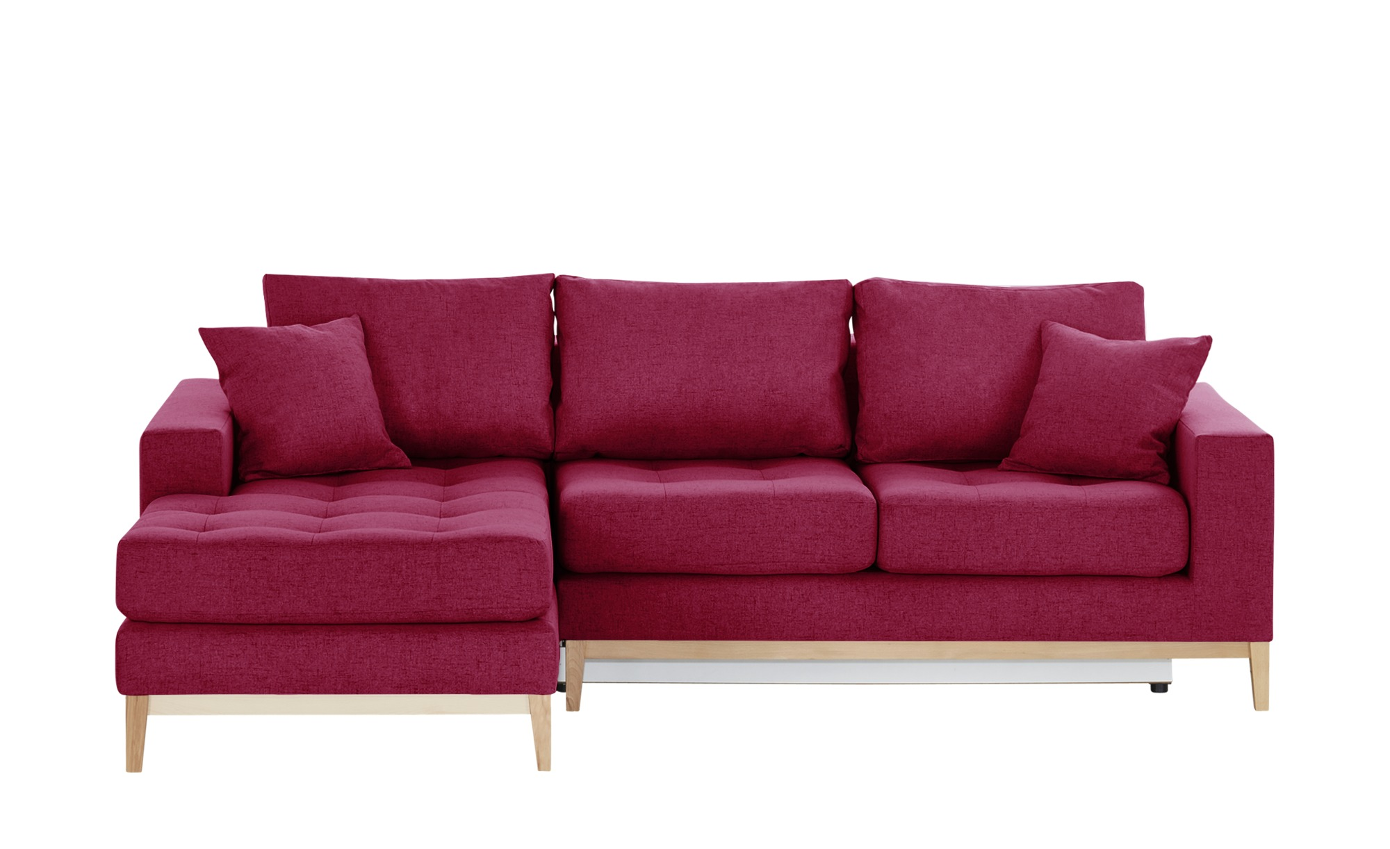 Smart ecksofa vivien breite h he 90 cm rot online kaufen for Ecksofa 1 90