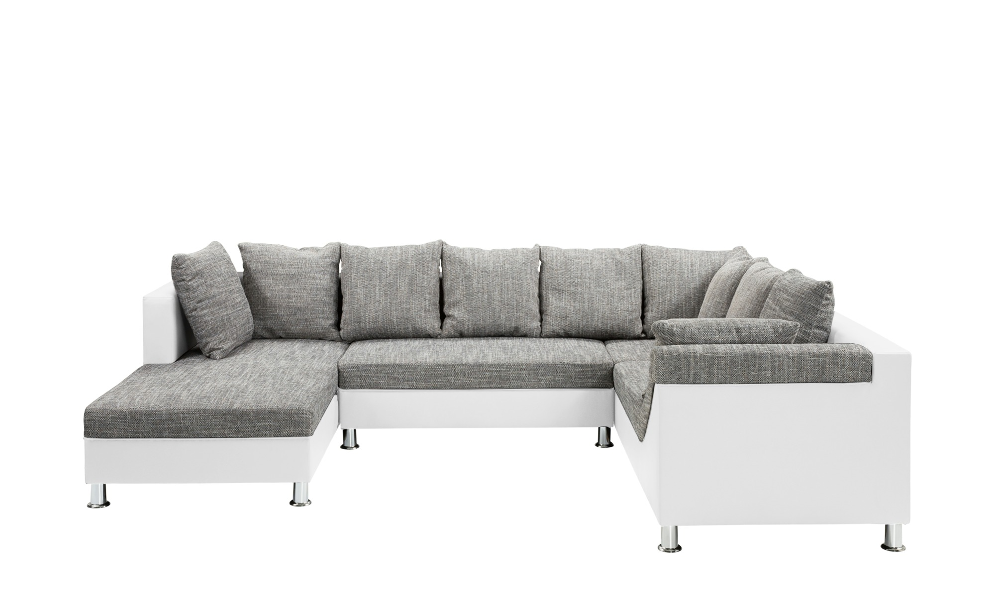 smart schlaf wohnlandschaft in wei grau phibie breite 320 cm h he online kaufen bei woonio. Black Bedroom Furniture Sets. Home Design Ideas