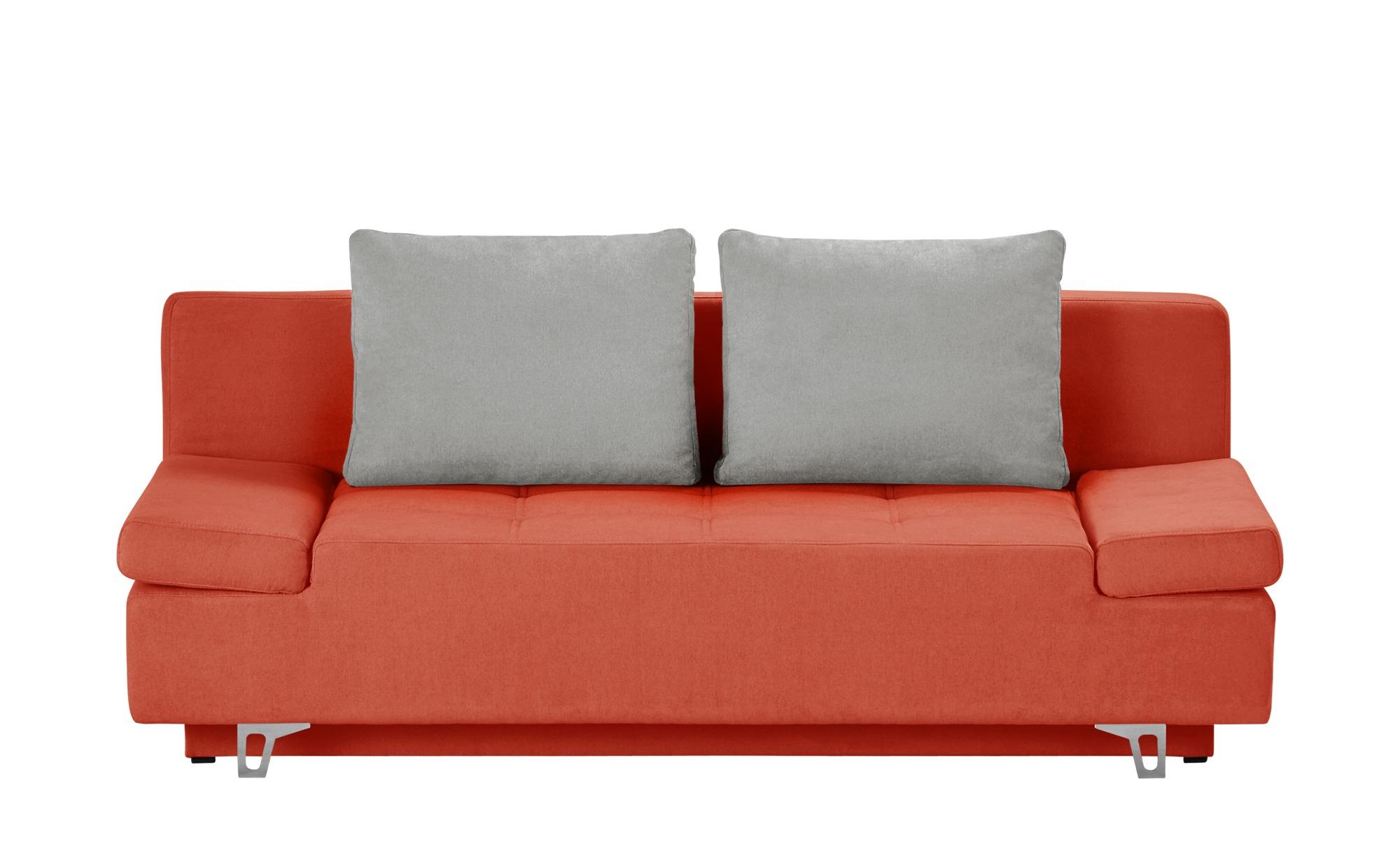 Smart schlafsofa patriece breite 200 cm h he 90 cm for Schlafsofa orange
