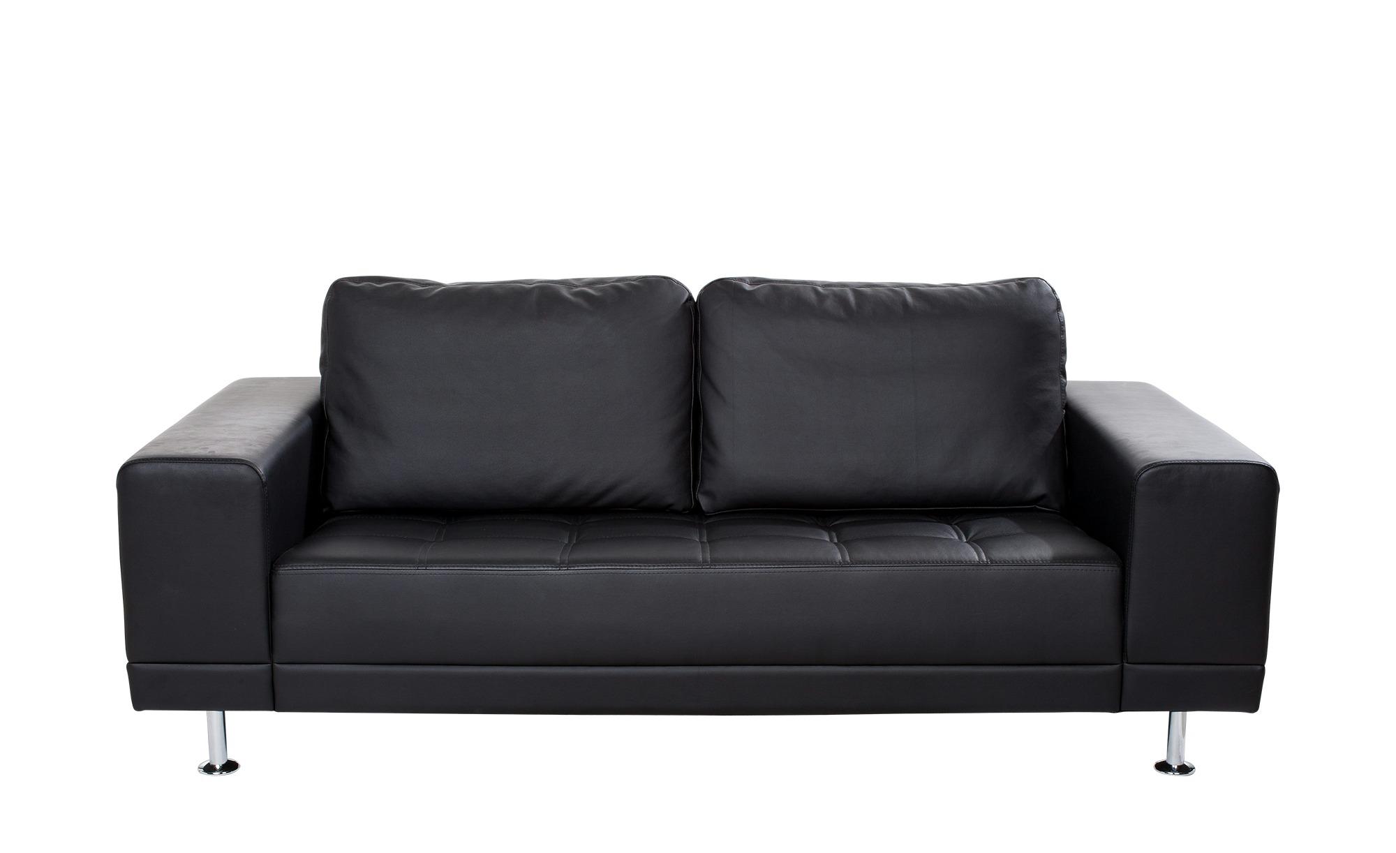 smart Schwarzes Design Sofa Garda Breite 200 cm Höhe 85