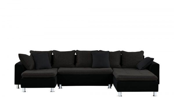 smart wohnlandschaft boriana breite 345 cm h he braun. Black Bedroom Furniture Sets. Home Design Ideas