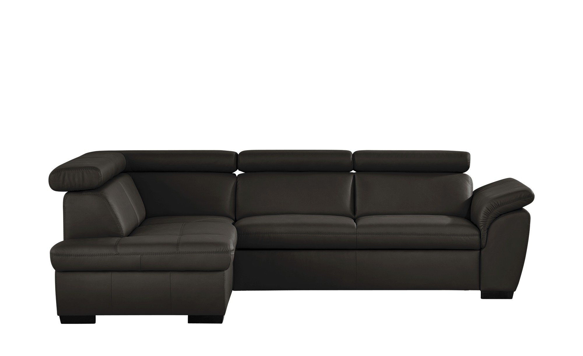 uno ecksofa aus leder samantha breite h he 82 cm braun. Black Bedroom Furniture Sets. Home Design Ideas