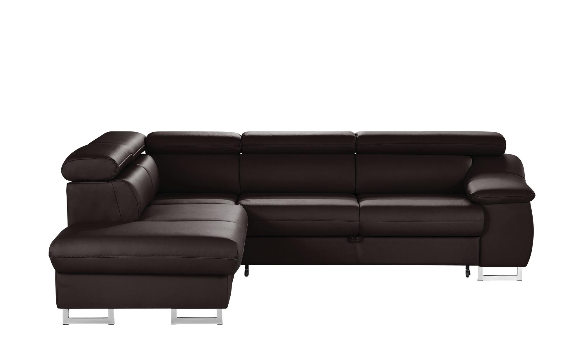 uno leder ecksofa liberty breite h he 81 cm braun online kaufen bei woonio. Black Bedroom Furniture Sets. Home Design Ideas
