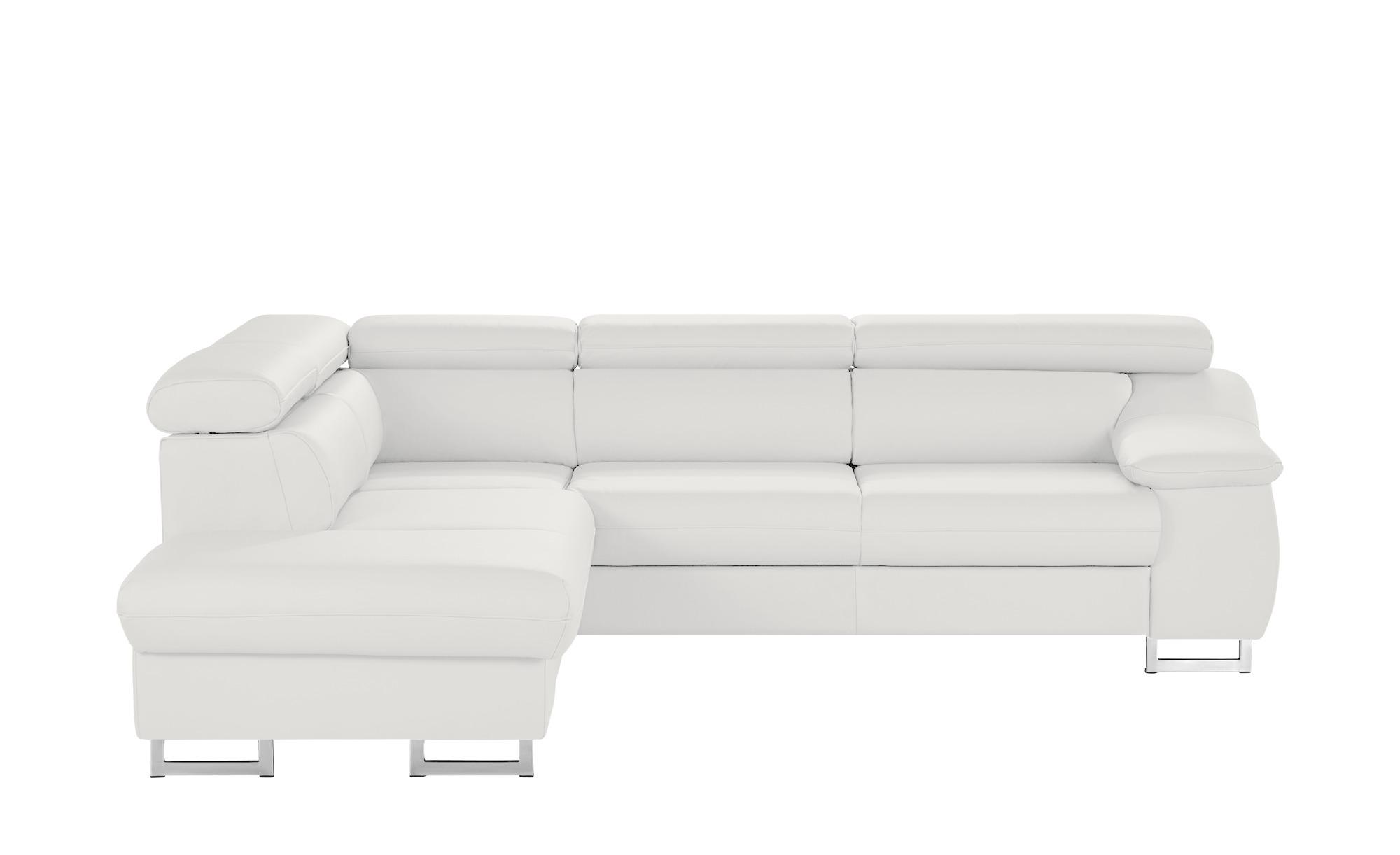 uno leder ecksofa liberty breite h he 81 cm wei online kaufen bei woonio. Black Bedroom Furniture Sets. Home Design Ideas
