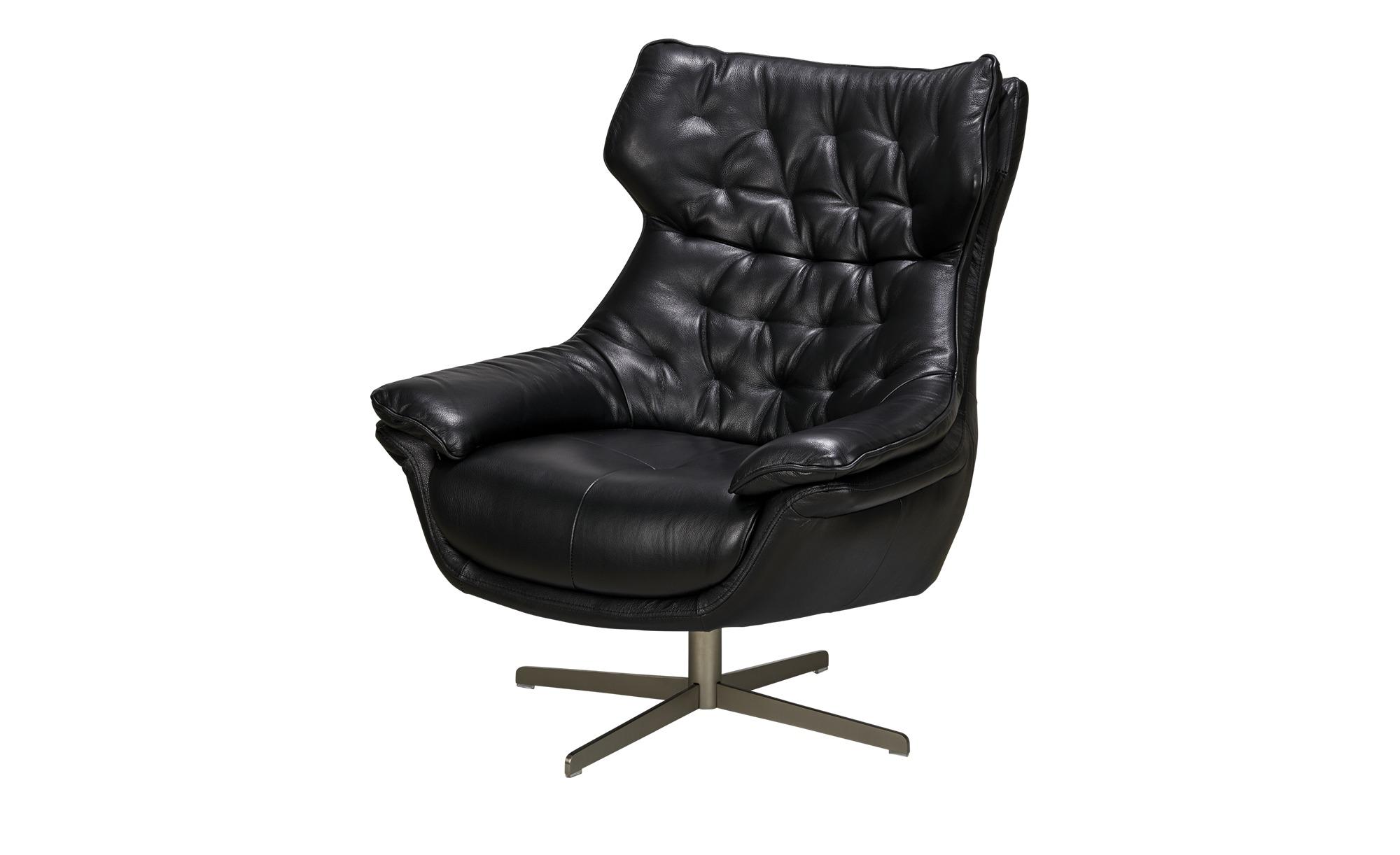 uno Sessel Leder black Linia Breite 79 cm Höhe 100 cm schwarz online kaufen bei WOONIO