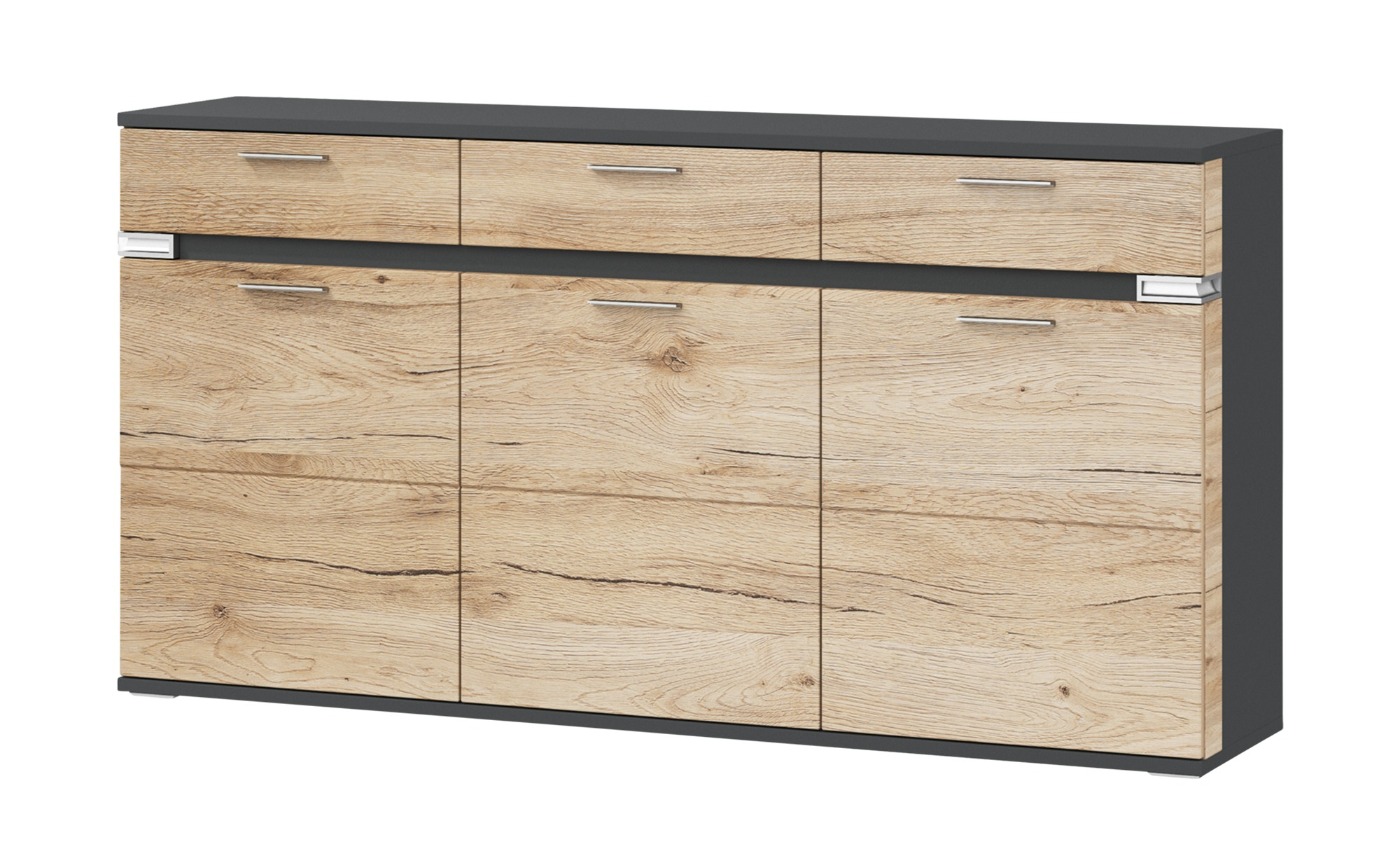 uno sideboard katt breite 180 cm h he 93 cm online kaufen bei woonio. Black Bedroom Furniture Sets. Home Design Ideas