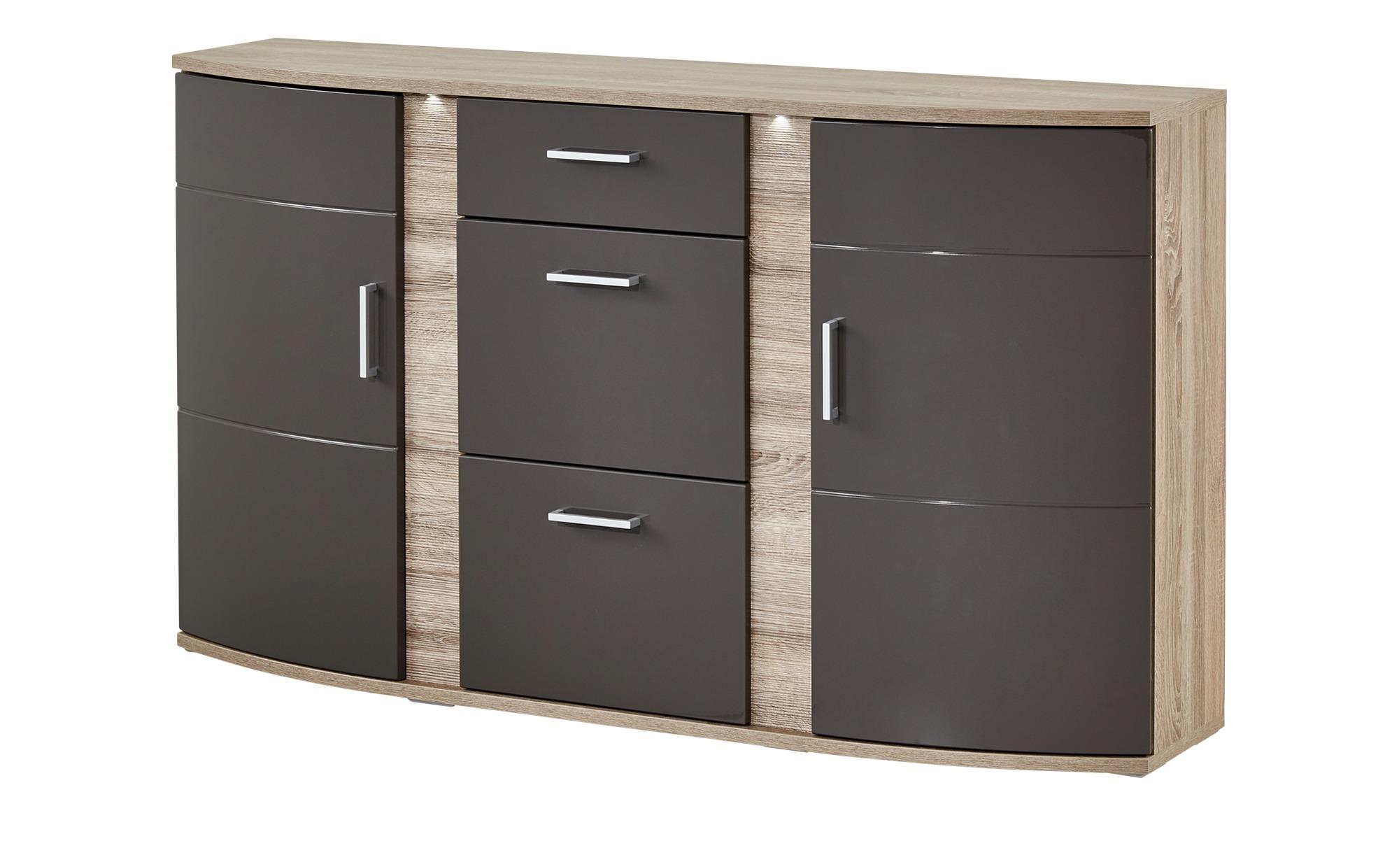 uno sideboard mit beleuchtung onyx breite 164 cm h he 94 cm online kaufen bei woonio. Black Bedroom Furniture Sets. Home Design Ideas