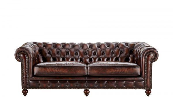 uno Sofa 3-sitzig Leder  Chesterfield uno Sofa 3-sitzig Leder  Chesterfield-Sofa 3-sitzig Leder-uno-braun Breite: 230 cm Höhe: 80 cm braun