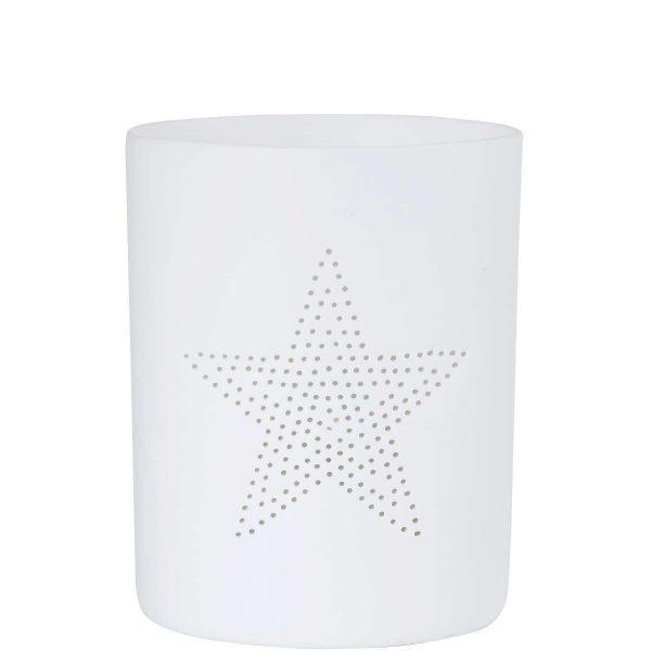 BUTLERS DELIGHT »Teelichthalter Stern« weiß