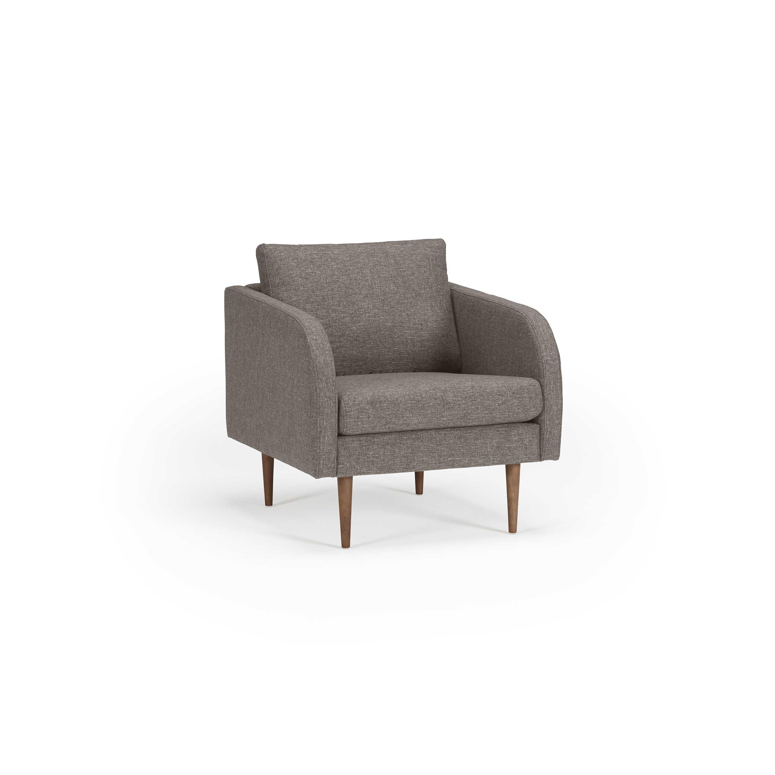 kragelund sessel k374 hugo braun stoff online kaufen bei woonio. Black Bedroom Furniture Sets. Home Design Ideas