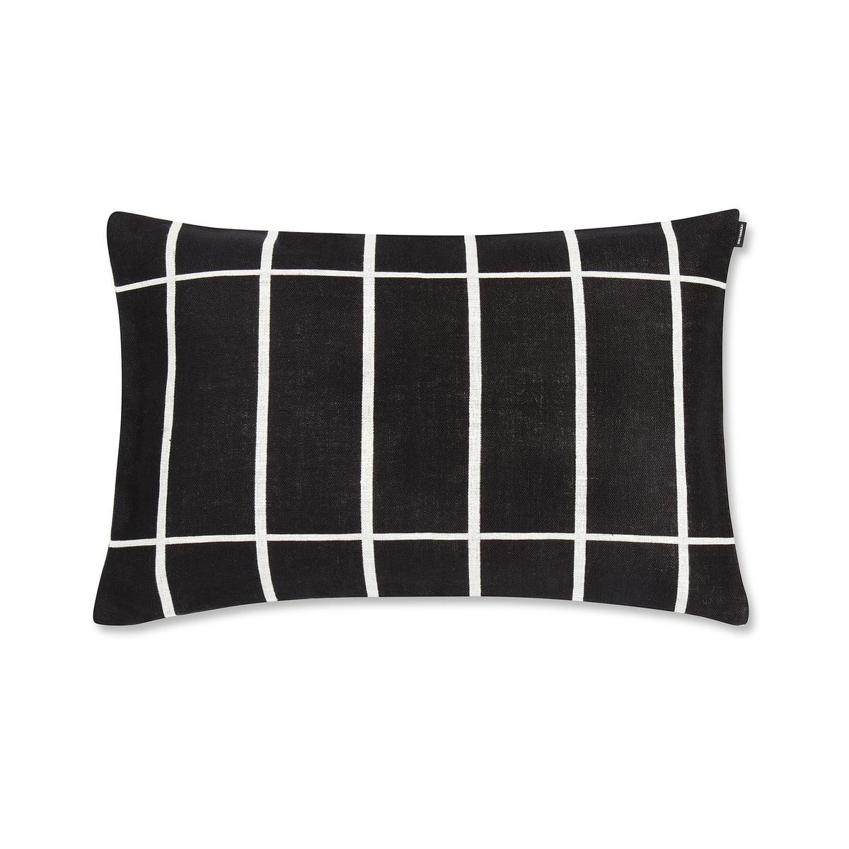 marimekko tiiliskivi kissenbezug 40 x 60 cm schwarz wei schwarz wei t 40 h 0 b 60 online. Black Bedroom Furniture Sets. Home Design Ideas