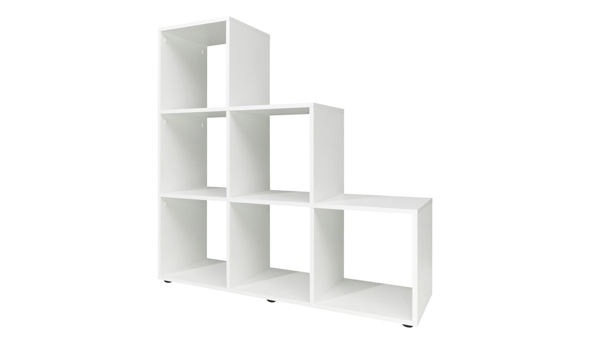 stufenregal avena breite 105 cm h he 106 cm wei online. Black Bedroom Furniture Sets. Home Design Ideas