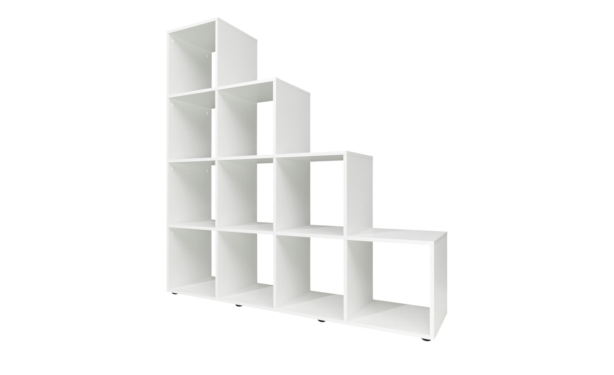 stufenregal avena breite 139 cm h he 141 cm wei online kaufen bei woonio. Black Bedroom Furniture Sets. Home Design Ideas