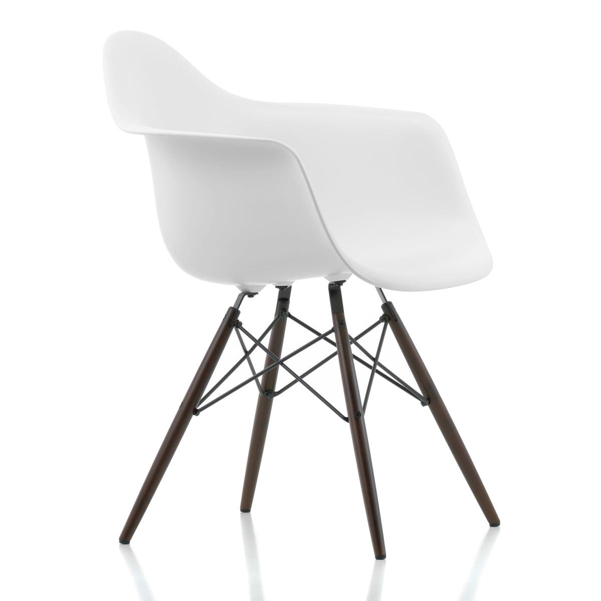 vitra eames plastic armchair daw h 43 cm ahorn dunkel