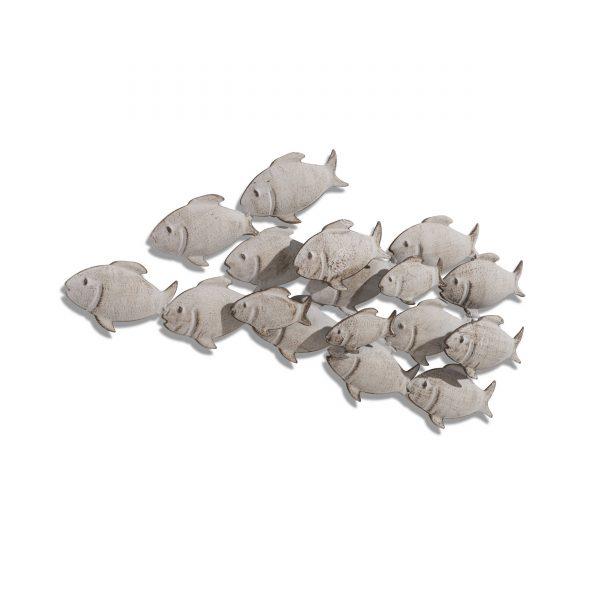 BOLTZE Wanddeko Fischschwarm 62 x 28 cm