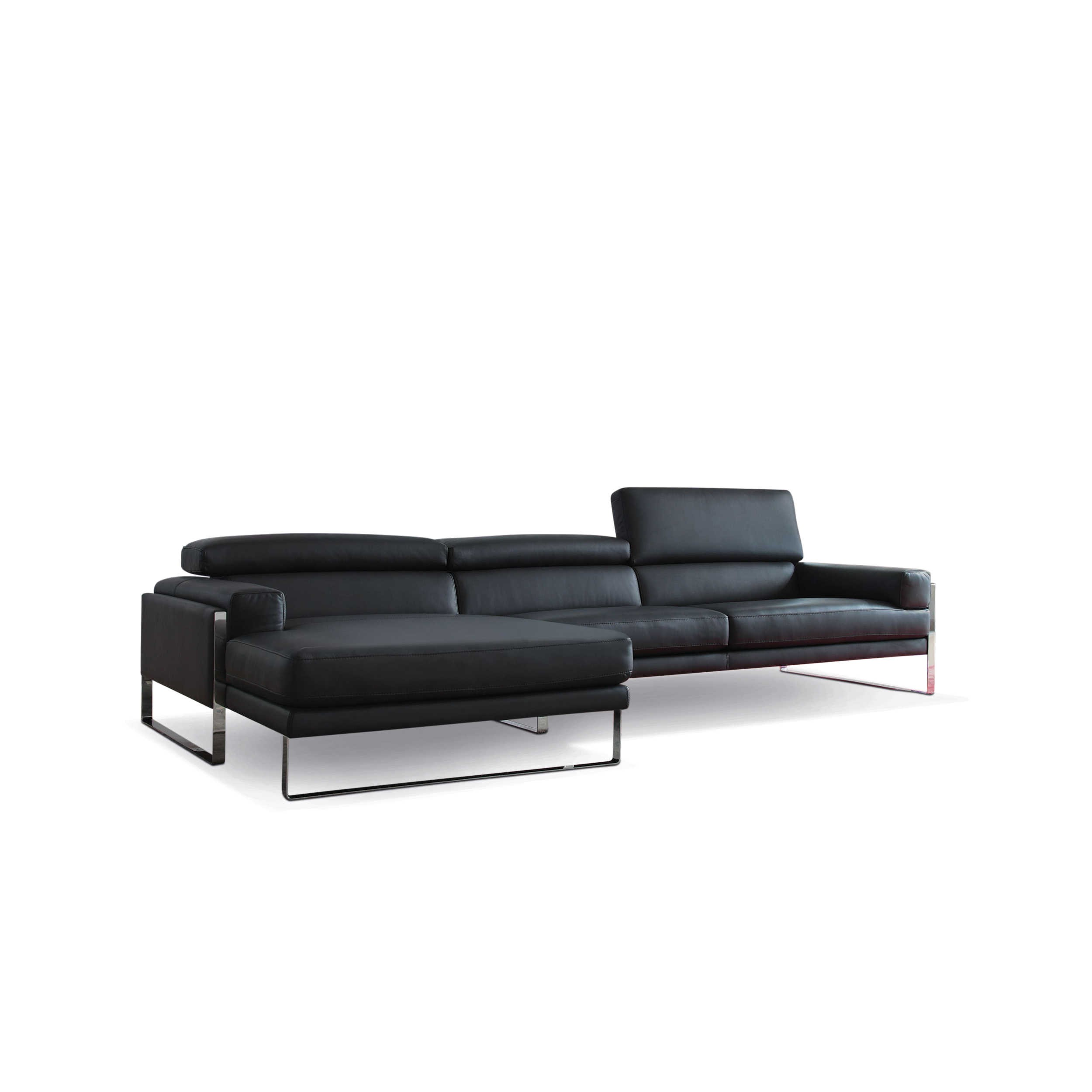 calia ecksofa romeo cal 808 schwarz leder online kaufen bei woonio. Black Bedroom Furniture Sets. Home Design Ideas