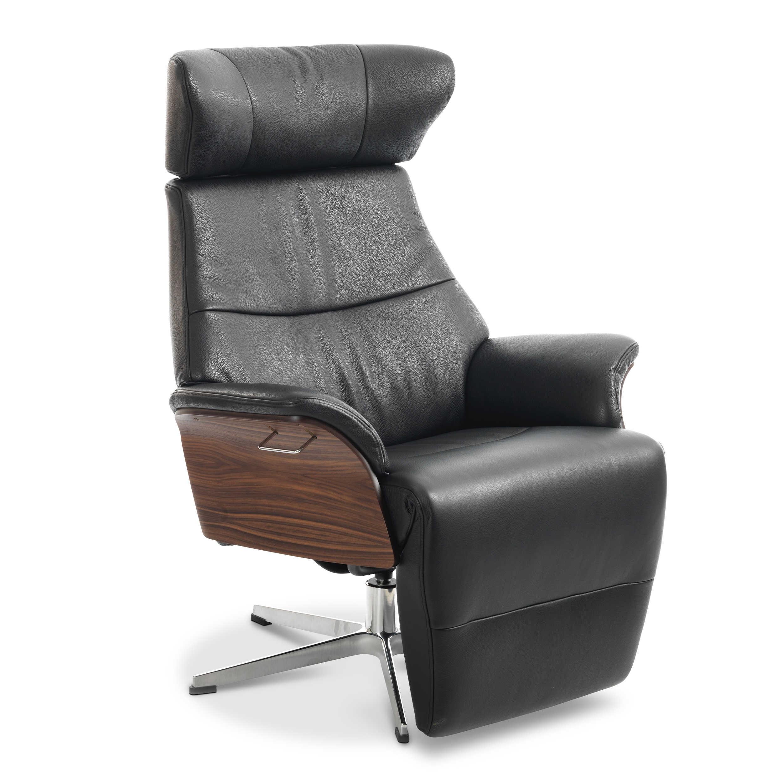 conform sessel air mit fu st tze schwarz leder online kaufen bei woonio. Black Bedroom Furniture Sets. Home Design Ideas