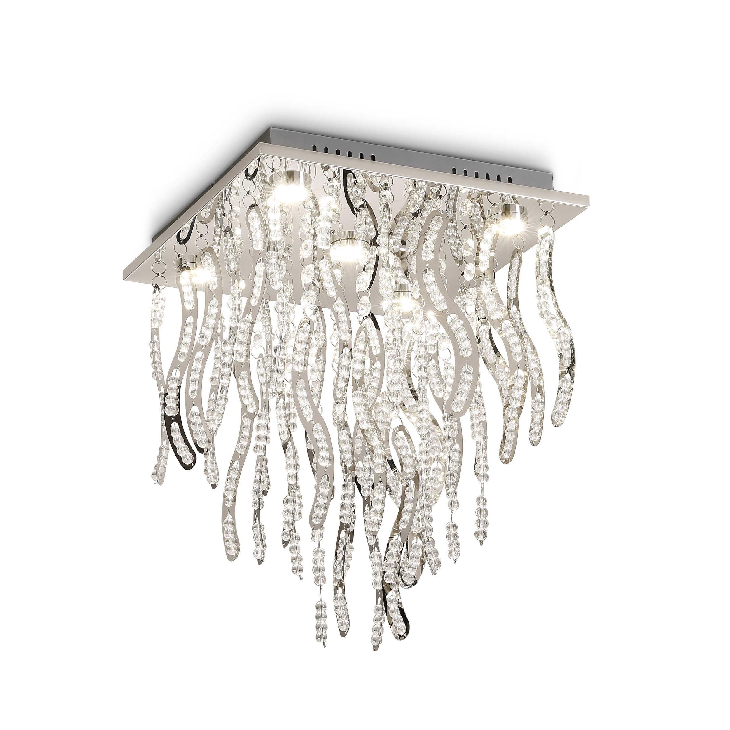 Designer Deckenleuchte Roma 30 Kaufen: DesignLive LED-Deckenleuchte Campolino A+ Silber Chrom,Alu